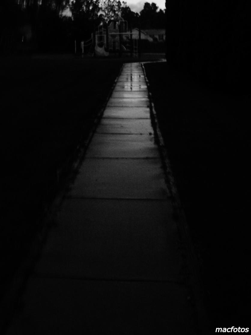 Rainy Sidewalk